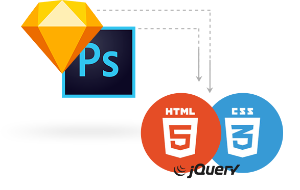 html5 convert psd sketch to html